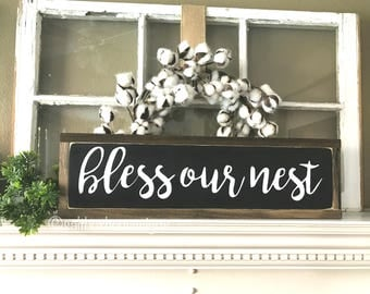 Bless Our Nest Sign Ready to ship