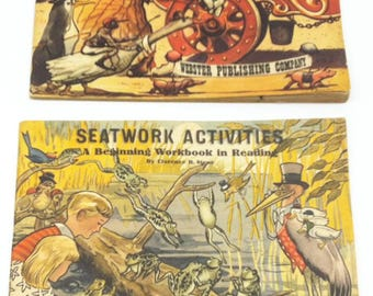 Educational Seatwork Activities and Seatwork Pre-Primer  1947 Teachers Aid