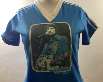 Vintage Waylon Jennings, Vintage Country, Vintage Shirt, 70s Shirt, Iron On Shirt, Waylon Jennings, Country Music, 70s Country, Vintage 1970