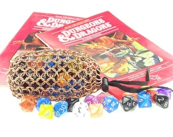 Dungeons And Dragons Dice Bag - Heavy Copper - Magic The Gathering - Large Pouch - SKDB-C-L