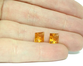 Citrine Faceted Stone Matched Pair - 2.08 carats