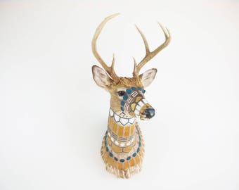 CUSTOM MADE - Hand-painted Taxidermy Deer Shoulder Mount