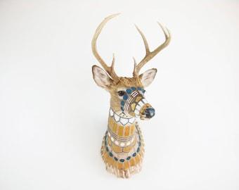 CUSTOM MADE - Hand-painted Taxidermy Deer Shoulder Mount