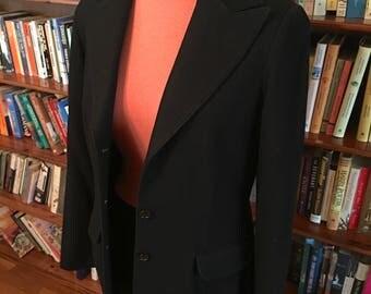 KORET of CALIFORNIA--Inky Black 1950s Ladies Blazer--M