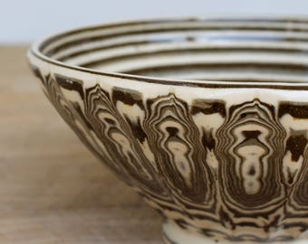 Agateware Pottery Bowl