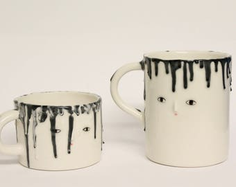 One Melted cup - Porcelain cup