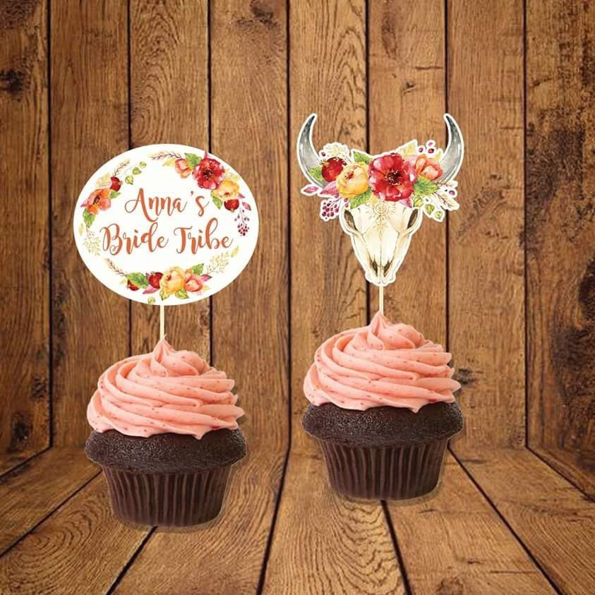 Bohemian Cake Toppers