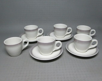 vintage restaurant china ... Buffalo China demitasse set , 6 cups 4 saucers