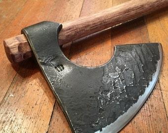 Viking Axe Bearded Axe hand forged blacksmith