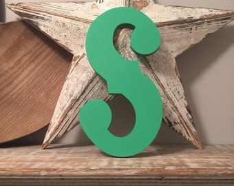 Hand-painted Wooden Letter S -  Wall Letters - Circus Font - Various sizes, finishes and colours