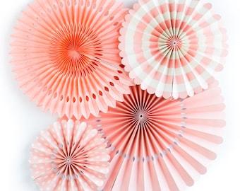 Party Fans | Party Pinwheel Fans | Paper Rosettes | Paper Pinwheels