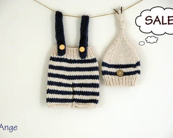 SET) Newborn photo outfit, Newborn photo prop, Baby boy outfit, Newborn boy outfit set
