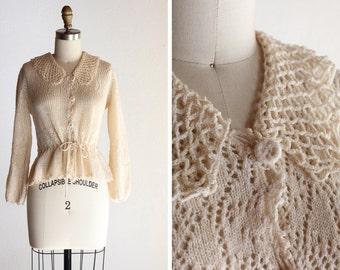 1970s Vanilla Knit Blouse
