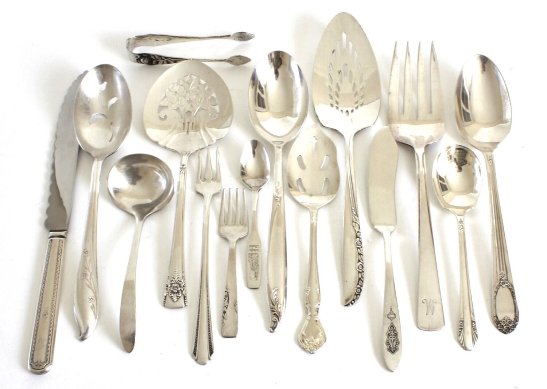 Silverplate Serving Pieces Vintage Antique Silverware Wedding