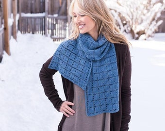 Crochet Pattern ~ Square Squared Scarf ~ Crochet Pattern