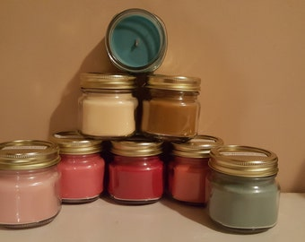 Candles for St. Chris Handmade 8oz Wood Wick Soy Candles CHOOSE YOUR SCENT(S)