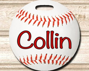 Baseball Personalized Bag/Luggage Tag