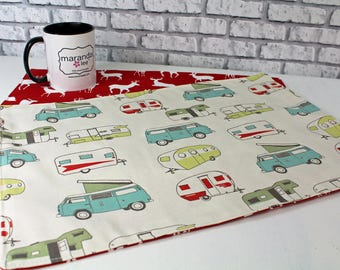Reversible Placemats  - Choose Your Fabric - Set of 2 Table Linens