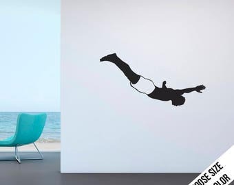Cliff Diver Wall Decal - High Diving - Vinyl Sticker (Shorts Style)