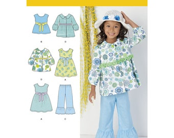 Simplicity Pattern 1476 Child's Dress, Top, Pants and Jacket ~ Factory Folded UnCut Sewing Pattern