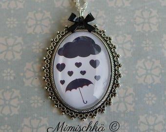Necklace rain love umbrella