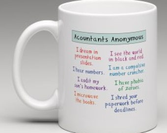 Funny Mug for Accountant available as print too