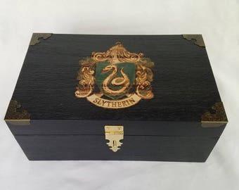 Slytherin Hogwarts School Emblem Custom Box