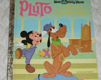 A Little Golden Book Walt Disney World Pluto and the Adventure of the Golden Scepter