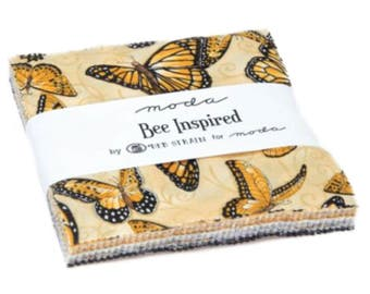 Bee Inspired Charm Pack - 42 Five Inch Squares by Deb Strain from Moda