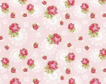 High Tea - Dusty Pink Doile Rose by Jera Brandvig from Lecien