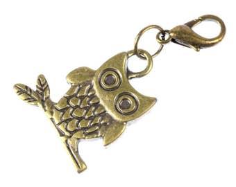 Owl Owls Charm for Bracelet Wristlet Dangle Miniblings owl Bird owl Bronze