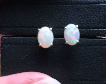 CLASSIC  Opal Stud Earrings in 14KT  yellow gold   Stud Earrings....65 points each for a total of 1.30 carats!!