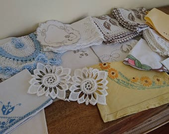 Mixed Linen Bundle, Doilies, Tray Covers, Coasters, Napkins, etc.