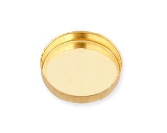 yellow Gold Filled Round Bezel Cup 5 mm Sold by unit