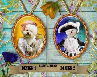 Bichon Frise Jewelry/Bichon Frise Pendant or Brooch/Bichon Frise Necklace/Dog Handmade Jewelry/Custom Dog Jewelry by Nobility Dogs