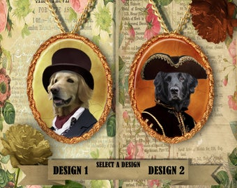 Hovawart Jewelry. Hovawart Pendant or Brooch. Hovawart Necklace. Hovawart Portrait. Custom Dog Jewelry by Nobility Dogs.Dog Handmade Jewelry