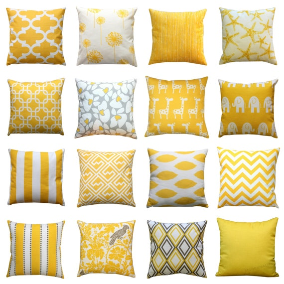 Housse de coussin jaune ma s jaune coussin par - Housse de coussin jaune ...