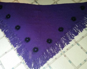 Purple majesty triangle shawl