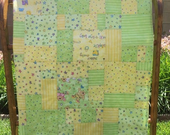 Baby Quilt Yellow and Green