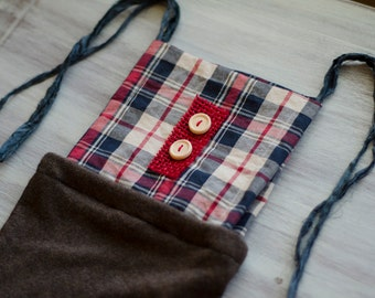 Red Plaid - newborn photo prop