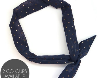 Metallic Star Print Wired Headscarf