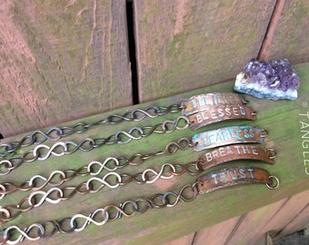 Copper S Link Statement Bracelets