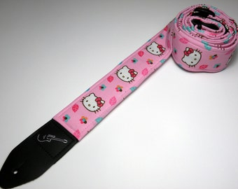 Anime-themed handmade guitar strap with double padding - This is NOT a licensed product
