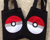POKEMON PARTY/felt party favor bags/ for boys and girls/Set of 6 felt bags/