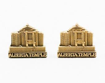 Cardston Alberta Canada Temple Cufflinks