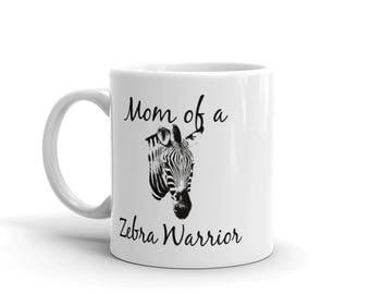 Mom of a Zebra Warrior Rare Disease Ehlers Danlos EDS Coffee Tea Mug - Choose Size