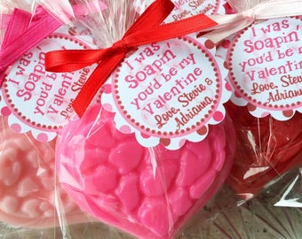 10 HEART SOAPS {Favors} - Valentine Day, Class Party, Teacher Gift, Heart Valentine, Heart Soap Favor, Wedding, Bridal Shower, Birthday