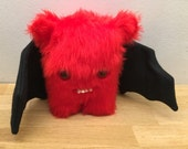 Bat - Decorative Doll - Uncanny Creature - Handmade and OOAK /Ready to ship/ Quirky Uncanny Scary Creepy Cute