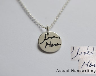 Custom Handwriting Jewelry - Actual Handwriting Necklace Engraved