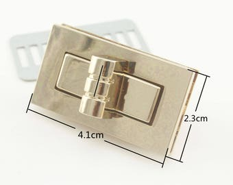 4.1cm x 2.3cm   Gold / gunmetal / nickel / Anti bronze  Purse Twist lock turn lock  4 color to choose